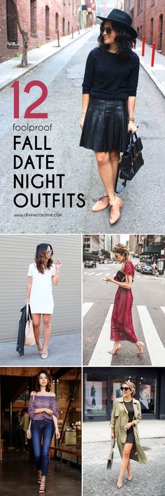To cut down on outfit changes, polling your friends, and last-minute shopping sprees, we have 12 perfect date night outfits for this fall. #Fall #Fashion