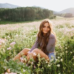 Hanging with Isabella in a field of flowers; my vibe 🌿🌸💯