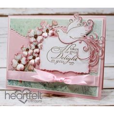 Heartfelt Creations - Pink Dogwood And Dove Delight Project