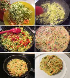 Tortitas de verduras (llevan un poco de harina, fácil de sustituir por una sin gluten)