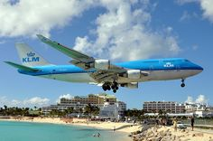 Maho Beach - St. Maarten.  The hotel behind the plane is the Sonesta Maho my fav hotel in St Maarten.  The one I always stay at.  Right beside the airport.  It's amazing to see the planes fly in :)