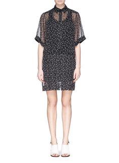 SEE BY CHLOÉ Strawberry print chiffon shirt dress