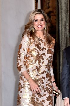 Queen Maxima Photos: State Dinner in Honor of King Willem-Alexander of the…