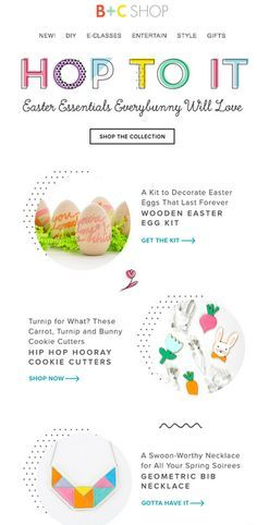 Brit + Co. B+C SHOP Easter Email