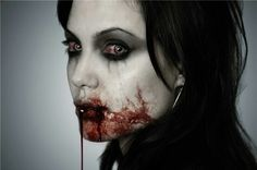 bloody vampyre. Angelina Jolie Photoshop