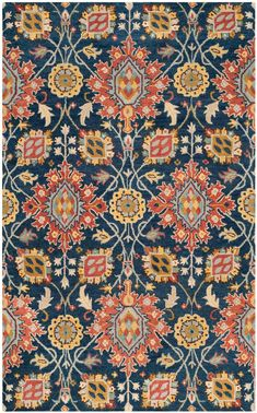 Looking for Safavieh Roslyn Collection Handmade Navy Multi Wool Area Rug x ? Check out our picks for the Safavieh Roslyn Collection Handmade Navy Multi Wool Area Rug x from the popular stores - all in one. Wall Carpet, Rugs On Carpet, Plush Carpet, Nursery Rugs, Room Rugs, Family Room Decorating, Yellow Area Rugs, Mosaics, Rugs