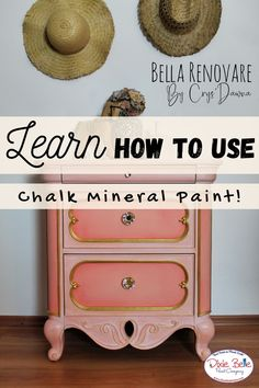 Do you have an old, boring nightstand? Give it a colorful pop with Chalk Mineral Paint! This coral bedside table was refurbished in the colors Apricot and Flamingo by Dixie Belle Paint! Orange Painted Furniture, Paint Furniture, Bedside, Nightstand, Distressing Chalk Paint, Florida Oranges, Dixie Belle Paint, Mineral Paint, Distressed Painting