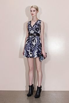 TREND. navy, black, and white prints.    mcq alexander mcqueen pre-fall '13.  look 24.