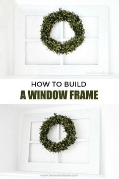 How to build a window frame, its easy and cheap to make using lumber. #faeriesandfauna #easydiy #easywoodworking #falldecorideas #falldecor