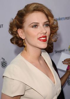 Hairstyles For Short Hair - Curly Updo