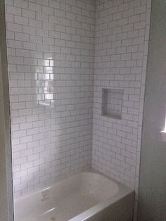 white subway guest bath - Google Search