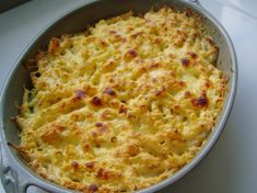 Gratin de macaronis Pasta, Crepes, Macaroni And Cheese, Side Dishes, Food And Drink, Veggies, Cooking, Ethnic Recipes, Macaronis