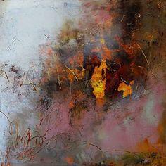 Misty Summer Morning by Lisa Boardwine Oil/Cold Wax ~ 12 x 12