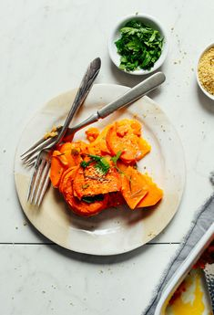 AMAZING Vegan Sweet Potato Butternut Squash Tortilla!  Just leave out the oil