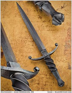 The BR Hughes Award is awarded for the best knife submitted by a Master Smith candidate. This year the Judging Panel in Atlanta at the Blade Show selected this knife which was submitted by Adam DesRosiers, Master Smith. Swords And Daggers, Knives And Swords, Espada Viking, Ps Wallpaper, Arte Ninja, Dagger Knife, Medieval Weapons, Best Pocket Knife, Cool Knives