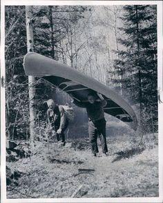 1968 Minnesota -- Portaging a canoe --  Wire Photo   eBay