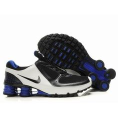 big sale d390d dce1a Nike Shox Turbo Men Black White Blue Shoes 1002 For  58.00 Go To
