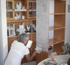 Diy Tutorial, Diy And Crafts, Decoupage, Bookcase, Sweet Home, Shelves, House, Painting, Furniture