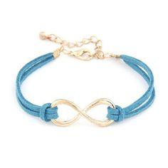 Infinity Armbandje Blauw Infinity staat voor oneindigheid en is helemaal hip. Oneindige vriendschap of liefde.  Draag dit mooie suède armbandje en geef er je eigen betekenis aan. http://www.armbandonlinekopen.nl/armbanden/hippe-armbandjes/