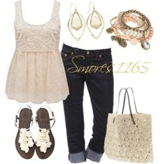 Cute summer outfit - ivory