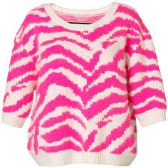 By Malene Birger Mavera Hot Pink Sweater ($445) ❤ liked on Polyvore