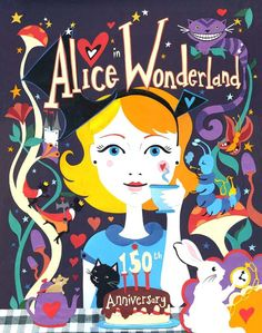 Alice in Wonderland Art Print   Limited Edition by vickysworld