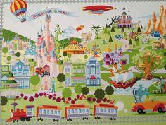 Disneyland Paris retro look illustrated map Walt Disney Quotes, Disney Movie Posters, Disney Films, Disney Parks, Disney Diy, Disney Fan Art, Disney Love, Disney Magic, Disney Stuff