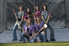 "Featuring some of the finest female logging sports athletes in the nation, the Axe Women Loggers of Maine put on an incredibly entertaining show that showcases their diverse array of logging sports skills. Shows include axe throwing, log rolling, underhand chopping, standing block chopping, hot sawing, cross cut sawing and other ""bad-axe"" methods for shredding wood to dust. www.idahofair.com"