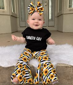 Cute Baby Girl Outfits, Toddler Outfits, Kids Outfits, Western Baby Clothes, Baby Kids Clothes, Cute Little Girls, Cute Kids, My Baby Girl, Baby Girl Stuff