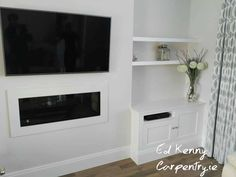 Alcove unit with floating shelves Carpentry Services, Bespoke Furniture, Alcove, Floating Shelves, The Unit, Building, Design, Home Decor, Wall Mounted Shelves
