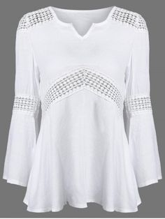 GET $50 NOW | Join RoseGal: Get YOUR $50 NOW!http://www.rosegal.com/blouses/lace-splicing-v-neck-patchwork-751458.html?seid=1350175rg751458