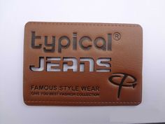 Social onde na escrita e jeans igual no lazer Tag Design, Label Design, Leather Label, Pu Leather, Garra, Leather Pattern, Denim And Supply, China Fashion, Hang Tags
