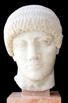 """""""The Blond Boy""""~ head of the statue of a youth (480 BC), Acropolis Museum, Athens"""