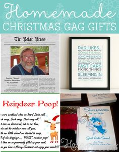 Homemade Christmas gag gift ideas to bring some silliness into the holiday season.