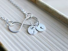 Sterling Silver Infinity Necklace Silver by HandStampedbyJoanna, $29.00