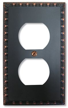 amerelle renaissance 1 gang duplex wall plate aged bronze at the home depot mobile