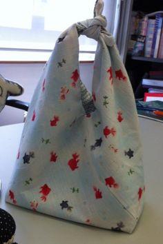 Japanese knot bag, reversible