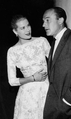 Grace Kelly and Gene Kelly at Cannes 1955