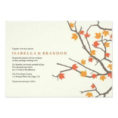 Fall Leaves Wedding Invite