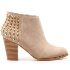 Zara Suede Studded Bootie Zara Suede Studded Boot. Light tan suede upper with gold studs. Size 7. Worn 3 times. Great condition. Zara Shoes Ankle Boots & Booties