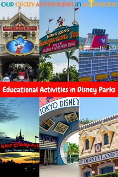 Are you going to Disney Parks on vacation or live near one? Some fun ideas for educational activities in Disney Parks so you can learn while you play. Teaching Activities, Educational Activities, Disney Holidays, Alternative Education, Virtual Field Trips, Autism Parenting, Homeschool High School, Parent Resources, Bright Ideas