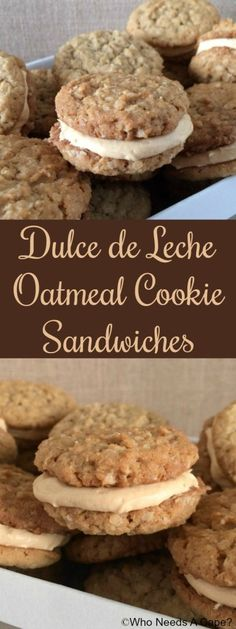 Dulce de Leche Oatmeal Cookie Sandwiches #FreakyFriday