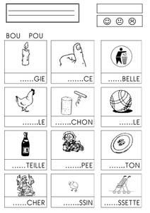 confusion syllabes - chez Camille - Act French Language Lessons, French Language Learning, French Lessons, French Teaching Resources, Teaching French, Teaching Kids, French Education, Kids Education, French Worksheets
