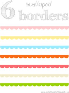 6 free scalloped scrapbooking borders