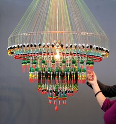 found fishing floats make a  chandelier | Carrie Can Blog