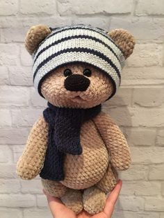 In this article we share amigurumi animal free crochet patterns. I wish you enjoyable knitting. Amigurumi toys are beautiful. Crochet Bear Patterns, Crochet Doll Pattern, Crochet Dolls, Crochet Ideas, Crochet Teddy Bear Pattern Free, Crochet Baby Toys, Cute Crochet, Baby Knitting, Teddy Bear Toys