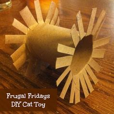 DIY Cat toy! ~~~~ I made one for my cats, one for my daughters and one for my sisters.  They all seem to have disappeared...I'm thinking it's on purpose.  Hehehe!  ~~~~~ Veronica