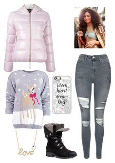 """Untitled #533"" by angelofadorability on Polyvore featuring Ross-Simons, Duvetica, Boohoo, Topshop, UGG and Casetify"