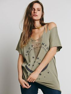 Free People We The Free Slashed Graphic Tee, $88.00