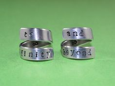 To infinity and beyond. Cute couples rings :)